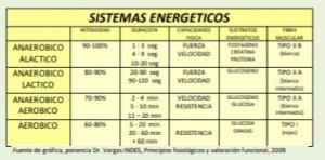 Fuente de gráfica, ponencia Dr. Vargas INDES, Principios fisiológicos y valoración funcional, 2009